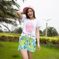 (와인앤쿡)실속형꽃무늬 beach wear (여성용)1P