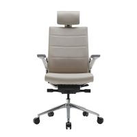 T800HLDAS 화이트쉘 의자(헤드레스트형-천연가죽)