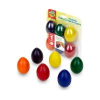 [크레욜라]계란형 수성 크레용 6색 GY811451