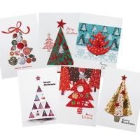 크리스마스카드/성탄절/트리/산타 트리세트 FS1023 Set(6종 세트상품)
