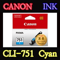 캐논(CANON) 잉크 CLI-751 / Cyan / CLI751 / ip7270 / ip8770 / ix6770 / ix6870 / MG5470 / MG5570 / MG6370 Black / MG6370 White / MG6470 / MG7170 / MX727 / MX927