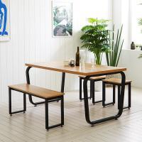 스틸뷰 1500식탁 둥근프레임 테이블