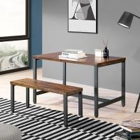 [에인하우스] 고트리 철재 원목 다용도 테이블세트