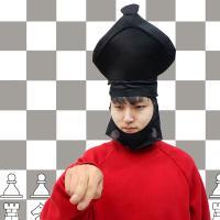 [백수건달] 어둠의 체스말 모자
