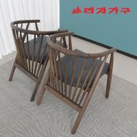 헤들 고무나무 원목 식탁 의자
