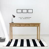 [벤트리] 원목 서랍 테이블 120