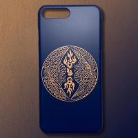 전통 쌍봉황문 코발트 골드 디자인 휴대폰 케이스