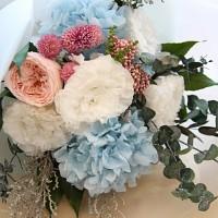 라넌큘러스&수국 꽃다발
