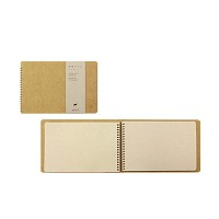 SPIRAL RING Notebook - camel (B6)