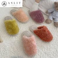 [애슬릿]퍼 매듭 바닥 실내화 털 슬리퍼