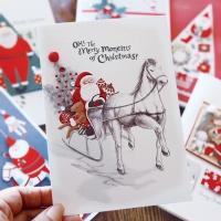 크리스마스카드/성탄절/트리/산타 산타의하루 FS206 Set(6종 세트상품)