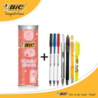 BIC 7종 필기구세트 (돼지저금통 문구세트)