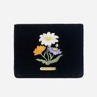 벨벳 카드 지갑_들국화(블랙)