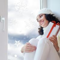 제제데코 크리스마스 눈꽃 스티커 장식 CMS4J222