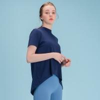 에이라인 반목폴라 반팔 티셔츠 DFW5017 네이비