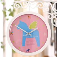 아트목마 라운드 양면시계(핑크목마)