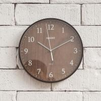 오리엔트 무소음 OT692L 내츄럴다크 인테리어벽시계