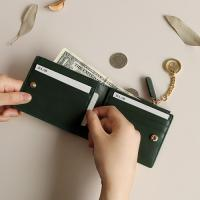 D.LAB Coin Half wallet  - Green