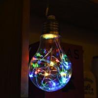LED 20P 와이어 건전지(밧데리) 에디슨전구(1구) - 칼라