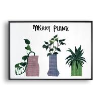 Merry Plants / 일러스트 액자
