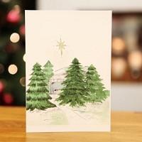 숲 속의 집 (크리스마스카드)