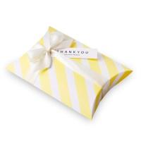 옐로우 스트라이프 반달 상자 소 (3개)
