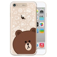 [SG DESIGN]iPhone7,8 라인프렌즈 브라운 FACE