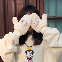 디스꽁 귀여운 벙어리 겨울 털장갑