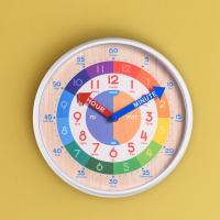 오리엔트 OT877 무소음 영어 시간배우기 교육용벽시계