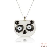 [글라스파크]팬더곰 유리 목걸이