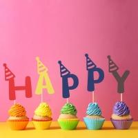 페이퍼 데코픽 (알파벳) 생일고깔