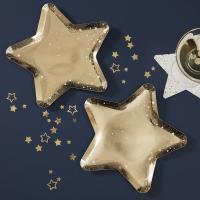골드 별모양  종이접시 Gold Star Paper Party Plates