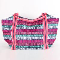 [ALL FOR COLOR]BEACH TOTE - TRIBAL STRIPE