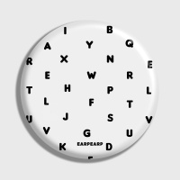 [어프어프] 손거울 Alphabet-white