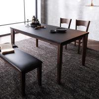 [채우리] 루트리 화산석 4인식탁세트(의자/벤치)