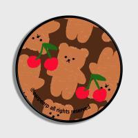 Dot cherry big bear-brown(스마트톡)