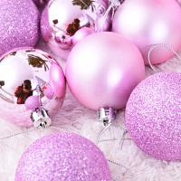 믹스볼장식세트 16입 (핑크) - 6cm