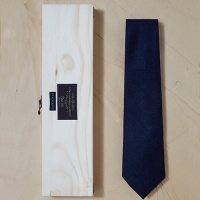 [PLAIN KNOT] PB9AN002-DN-1 / fabric by canonico solid wool tie / 까노니코 솔리드 울타이
