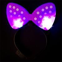 LED 리본머리띠 (핑크)