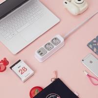 부엉이 클릭탭 USB형 2구 1.5m + 전용 브라켓 증정