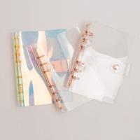루카랩 아카이브 6공다이어리 PVC 커버 로즈골드링