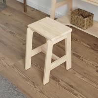 코아바 원목 화장대 의자