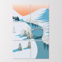 tb657-멀티액자_기차가지나가는겨울풍경
