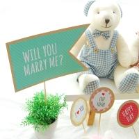 커플 DIY 파티세트 - 나랑결혼해줄래?