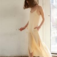 슬리브리스 러플 롱 드레스 sleeveless ruffle long dress