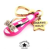 [참스홀릭]Pink beach sandals charm cks068