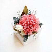 핑크오팔 카네이션 사각미니화기