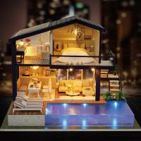 [adico]DIY 미니어처 풀하우스 - 럭셔리 풀빌라