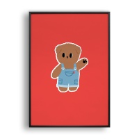Hello bear / 일러스트 액자