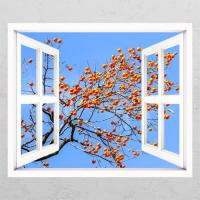 ts430-재물이주렁주렁감나무_창문그림액자